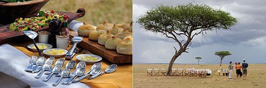 Lunch in der Savanne, Sayari Mara Camp © Fotos: Marco Penzel | Outback Africa Erlebnisreisen