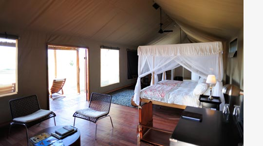 Zeltchalet des Zambezi Kulefu Camps © Foto: Marco Penzel | Outback Africa Erlebnisreisen