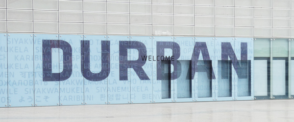 Durban Schriftzug am Stadion © Foto: Ulrike Pârvu | Outback Africa Erlebnisreisen