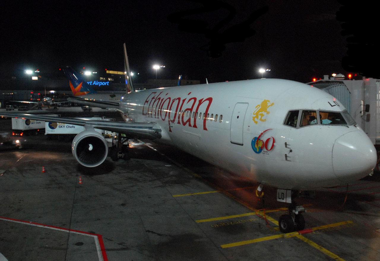 Ethiopian Airlines B767 in Frankfurt