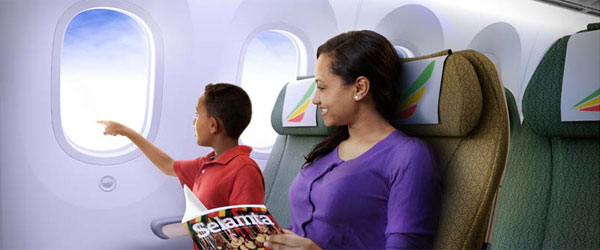 Boeing 787 der Ethiopian Airlines, Economy-Class © Foto: Ethiopian Airlines