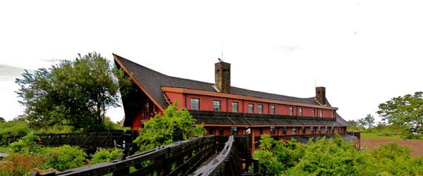 The Ark Lodge, von der Seite wirklich eine Arche