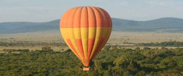 Ballon über der Massai Mara © Foto: Dan Massmer | Balloon Safaris Ltd.