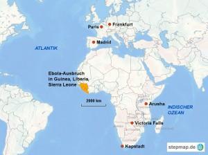 Die Ebola-Länder im Westen Afrikas