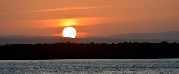 Temple Point Resort, Sonnenuntergang über dem Mida Creek © Foto: S. Schlesinger | Outback Africa Erlebnisreisen