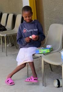 Mädchen im Rehabilitation Center, Usa River © Foto: S. Schlesinger | Outback Africa Erlebnisreisen