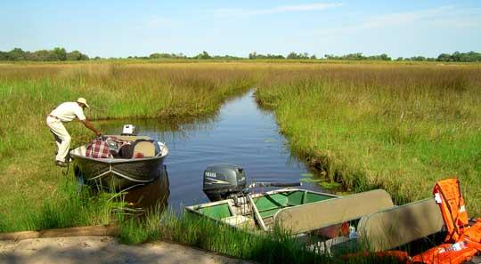 Anreise mal anders: Die campeigene Bootsanlegestelle von Kanana