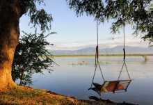 Entspannen mit Blick auf den Sambesi, Ruckomechi Camp  © Foto: Marco Penzel | Outback Africa