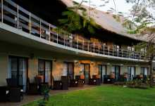 A Zambezi River Lodge, Garten