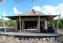 Onguma Tented Camp, Außenansicht Zeltchalet  © Foto: Jens Döring | Outback Africa
