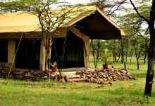 Naboisho Camp, Gästezelt