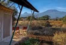 Sentrim Amboseli Camp, Blick vom Zeltchalet