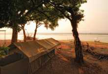 Hauszelt des Zambezi Lifestyle Camps, Mana Pools Nationalpark