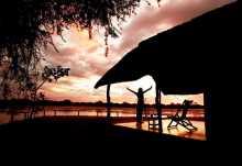 Kakuli Camp, Sonnenuntergang am Luangwa