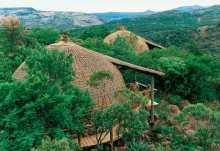 Isibindi Zulu Lodge, Außenansicht der Chalets