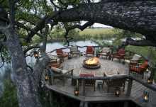 Xakanaxa Camp in Moremi an den Ausläufern des Okavango-Deltas, Botswana