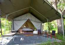 Machaba Camp, Zelt