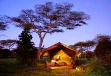Serengeti Safari Camp, Außenansicht Zelt