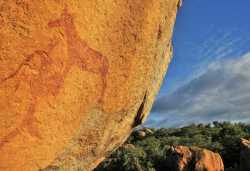 Felszeichnungen in der Felslandschaft der Matobo Hills.  © Foto: Bruce Taylor