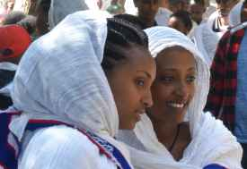 Zwei Pilgerinnen in Axum  © Foto: René Schmidt | Outback Africa
