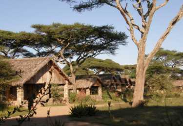 Chalets der Nduti Safari Lodge