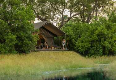 Gomoti Plains Camp, Zeltchalet  © Foto: Andrew Howard | Machaba Safaris