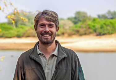 Mario Voss, Biologe aus Deutschland im Luangwa-Tal  © Foto: VDMC