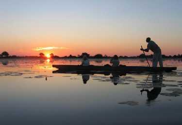 Mokoro-Fahrt im Okavango-Delta. Foto: René Schmidt