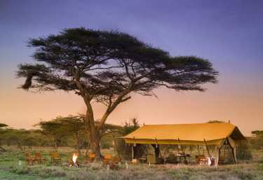 Serengeti under Canvas, Zelt von außen