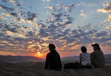 Sonneuntergang in der Namib