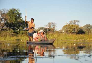 Mokoro-Fahrt durchs Okavango-Delta  © Foto: Bruce Taylor | Sunway Safaris