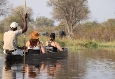 Mokoro-Safari im Okavango-Delta  © Foto: Sango Safari Camp