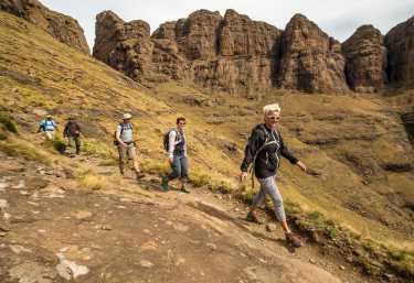Wanderung im Witsiehoek, Drakensberge  © Foto: Bruce Taylor | Sunway Safaris